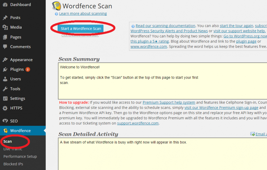 Wordpress Core File Scan WordFence
